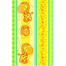 Полотенце махровое пестротканое жаккардовое С107-ЮА 100x160 (2248, Жирафики)