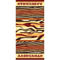 Полотенце махровое пестротканое жаккардовое С107-ЮА 100x50 (2880-1, Александр)