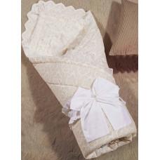 Одеяло-конверт 1.0 Бамбини Кружево (бежевый) 100х100