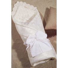 Одеяло-конверт 1.0 Бамбини Кружево (молочный) 100х100