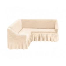 Чехол на угловой диван, 214 Кремовый (Krem)