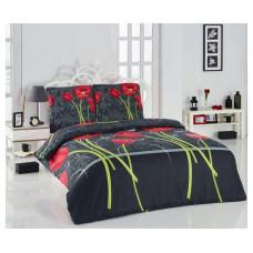 Комплект махрового постельного белья Маки, р-р евро