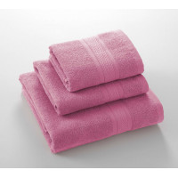 Утро розовый 70*140 махровое полотенце Г/К 400 г