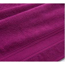 Утро яркая фуксия 70*140 махровое полотенце Г/К 400 г