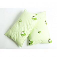Подушка 40*60 (см) (бамбуковое волокно+100% заменитель лебяжьего пуха, стеганая, тик 100% хлопок) в