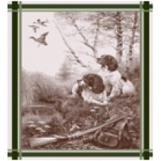 Полотенце 07с-39ЯК х/б пестр бел/цв 50х70 жакк Сезон охоты зелен (по 40)