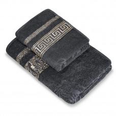Полотенце махр гл/кр Эллада 70х140 серый castlerock
