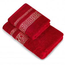 Полотенце махр гл/кр Эллада 70х140 красный garnet