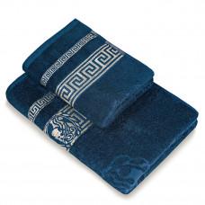 Полотенце махр гл/кр Эллада 70х140 темно синий dress blues