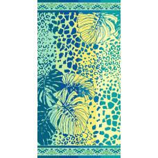 Полотенце махровое пестротканое жаккардовое С81-ЮА 70x140 ( 6219с, Тропики )