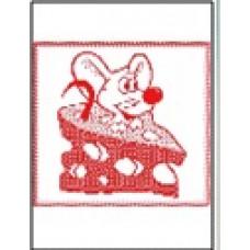 Салфетка махровая пестротканая жаккардовая С79-ЮА 30x30 (1573, Мышь в сыре, 420)