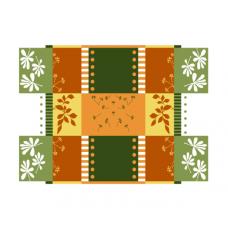 Простыня махровая пестротканная С101-ЮА 215x160 (1701, Шефлера)