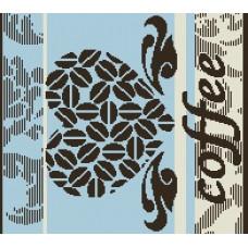 Салфетка махровая пестротканая жаккардовая  С79-ЮА 30x30 (4553, Кофе-сердце)