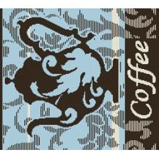 Салфетка махровая пестротканая жаккардовая  С79-ЮА 30x30 (4554, Кофе-чайник)