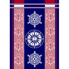 Полотенце махровое пестротканое жаккардовое  С107-ЮА 100x160 (3653, Штурвалы)