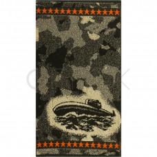 Полотенце махровое пестротканое жаккардовое С79-ЮА 30x60 (4387, Комуфляж-подлодка)