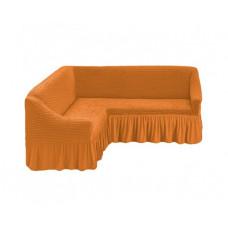 Чехол на угловой диван, 208 Рыже-коричневый (A.Hardal)