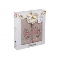 Набор полотенец KARTEKS 50х90/70х140 FLOWERS 7.01