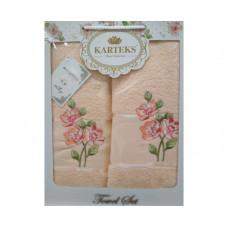 Набор полотенец KARTEKS 50х90/70х140 FLOWERS 7.05