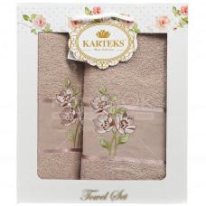Набор полотенец KARTEKS 50х90/70х140 FLOWERS 88.08