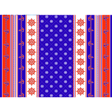 Простыня махровая пестротканная С101-ЮА 215x160 (3969, Якоря)
