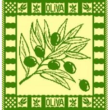 Салфетка махровая пестротканая жаккардовая  С79-ЮА 30x30 (2353, Олива)