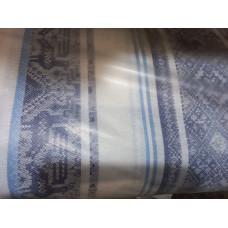 Холст полотенечный 17с-12ЯК п/л пестр бел/цв жакк 50 Вышивка/2 син сорт 1