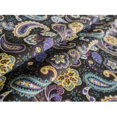 Ткань бельевая 175448 п/л отб наб 150 Огурцы черно-фиолетовые 44-17/2 сорт 1
