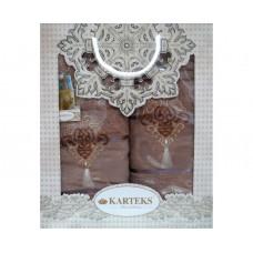 Набор полотенец KARTEKS 50х90/70х140 FLOWERS 8.10 кофе