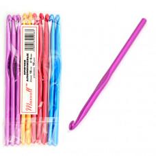 Крючки для вязания  арт.AL-CH04   6мм разноцветные