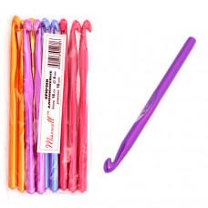 Крючки для вязания  арт.AL-CH04   8мм разноцветные
