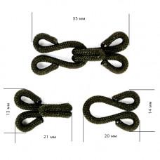 Крючки пришивные в оплетке 29мм ,35мм уп. 50шт
