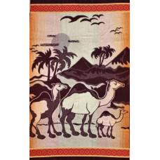 Полотенце махровое пестротканое жаккардовое С107-ЮА 100x160 (2341, Верблюды)