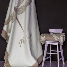 Одеяло взр.байковое арт.5772ВЖК разм.212х150 ПРЕМИУМ (кофейный стрекоза)