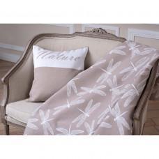 Одеяло взр.байковое арт.5772ВЖК разм.212х150 ПРЕМИУМ (кофейный стрекозы)