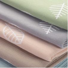 Одеяло взр.байковое арт.5772ВЖК разм.212х150 ПРЕМИУМ (пудровый листья)
