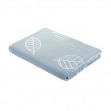 Одеяло взр.байковое арт.5772ВЖК разм.212х150 ПРЕМИУМ (серо-синий листья)