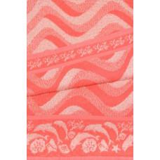 Полотенце махровое пестротканое жаккардовое С106/1-2-ЮА 45x90 (5694с, Морские волны-2)