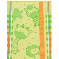 Полотенце махровое пестротканое жаккардовое С81-ЮА 70x140 (3976, Зоопарк, 420)