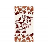 Полотенце махровое пестротканое жаккардовое С81-ЮА 70x40 (6042, Коровка, 420)