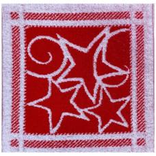 Салфетка махровая пестротканая жаккардовая С79-ЮА 30x30 (4024, Звезды)