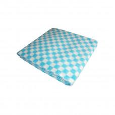 Одеяло х/б байк. детск.арт.57-3ЕТ разм.100х140 (бирюзовый мелкая клетка)