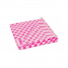 Одеяло х/б байк. детск.арт.57-3ЕТ разм.100х140 (розовый мелкая клетка)