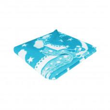 Одеяло х/б байк. дет.арт.57-5ЕТОЖ разм.140х100 (синий кружево)