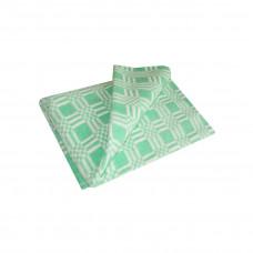 Одеяло взр.байковое арт.5772В разм.205х140 (зеленый комбинированная клетка)