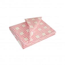 Одеяло взр.байковое арт.5772В разм.205х140 (красный комбинированная клетка)
