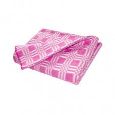 Одеяло взр.байковое арт.5772В разм.205х140 (розовый комбинированная клетка)