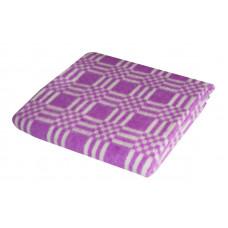 Одеяло взр.байковое арт.5772В разм.205х140 (фиолетовый комбинированная клетка)