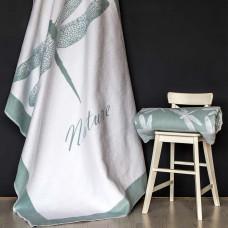 Одеяло взр.байковое арт.5772ВЖК разм.212х150 ПРЕМИУМ (льдистый стрекоза)