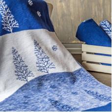 Одеяло взр.байковое арт.5772ВЖК разм.212х150 ПРЕМИУМ (сумеречный синий лес)